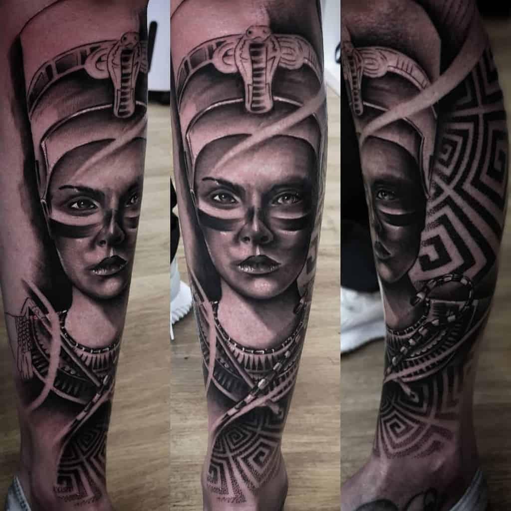 Realistic Nefertiti Tattoos Ufotattoo