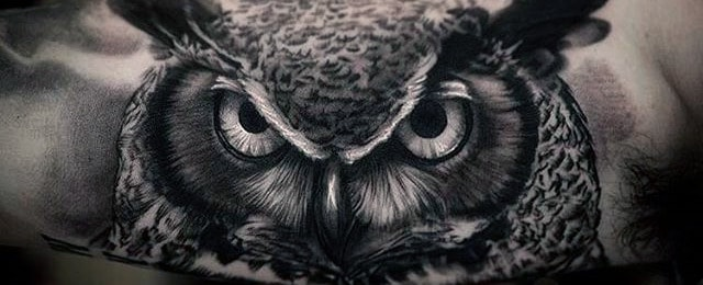 40 realistic owl tattoo designs for men nocturnal bird ideas. Black Bedroom Furniture Sets. Home Design Ideas