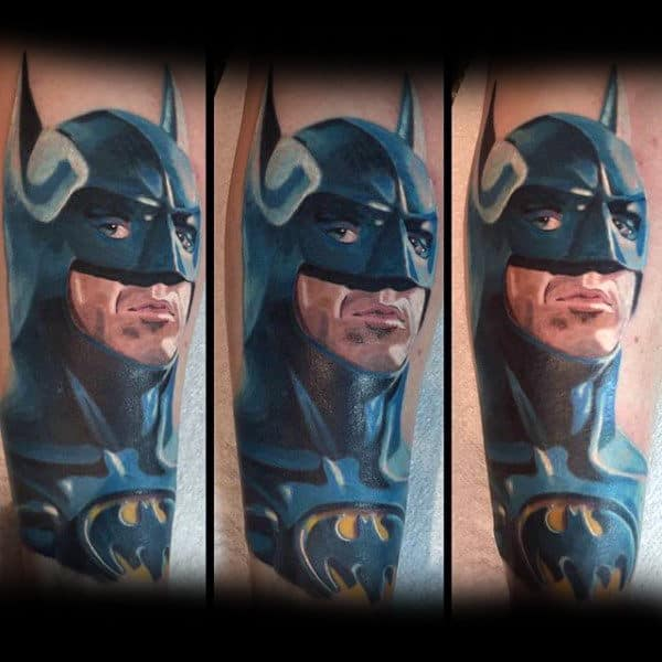 Realistic Portrait Batman Tattoo Designs For Guys