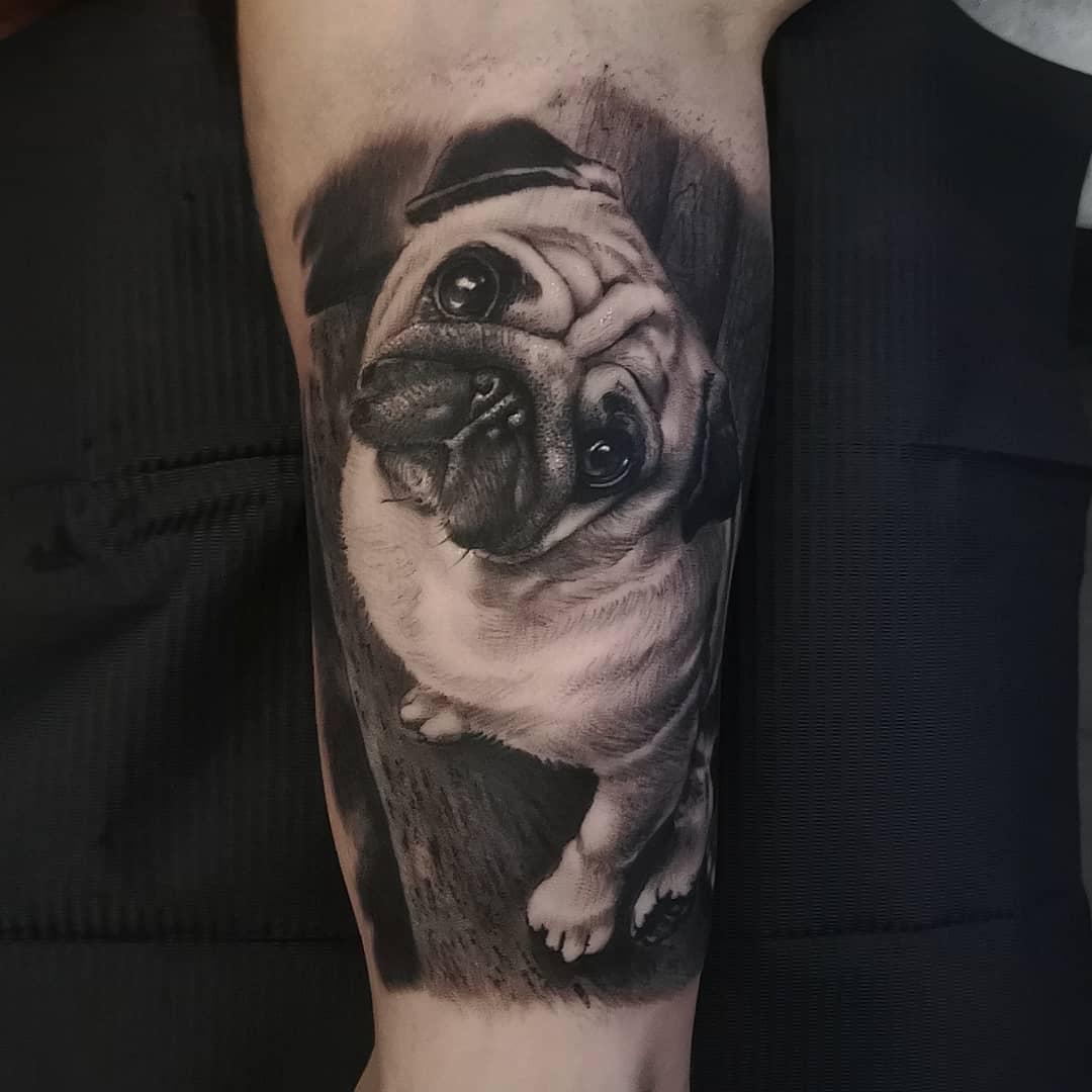 Realistic Pug Tattoo Aitorjimenez Tattoo