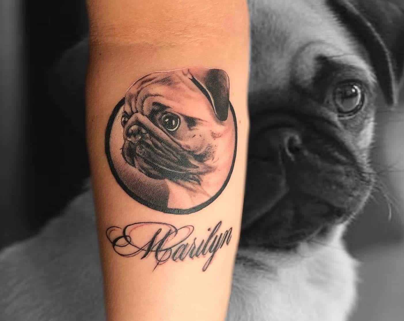 Realistic Pug Tattoo Cindyray1125