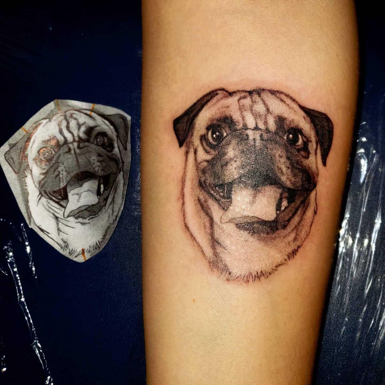 Realistic Pug Tattoo Jairoglyphics 23
