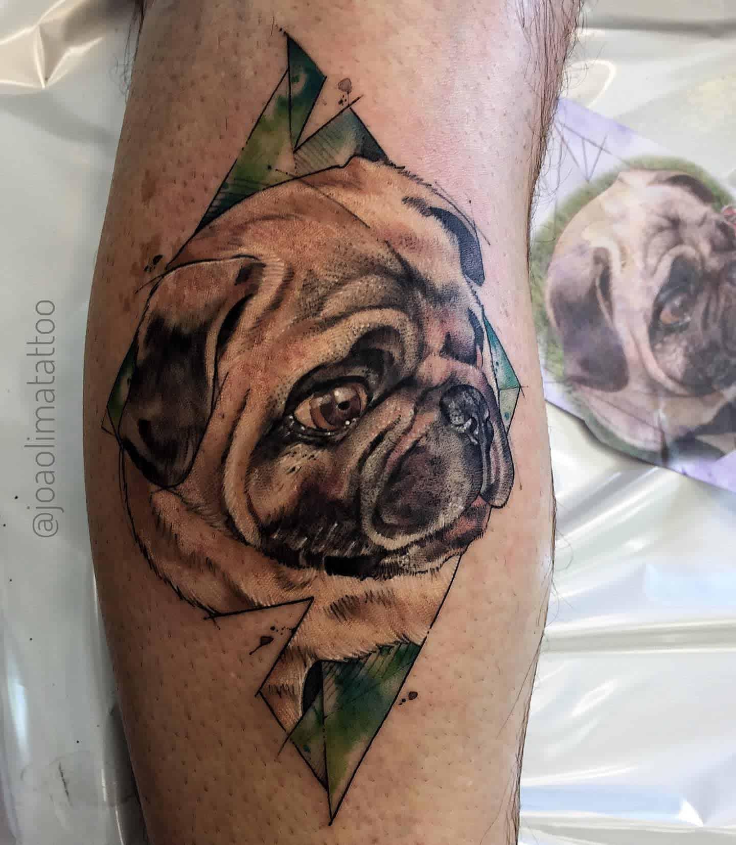 Realistic Pug Tattoo Joaolimatattoo