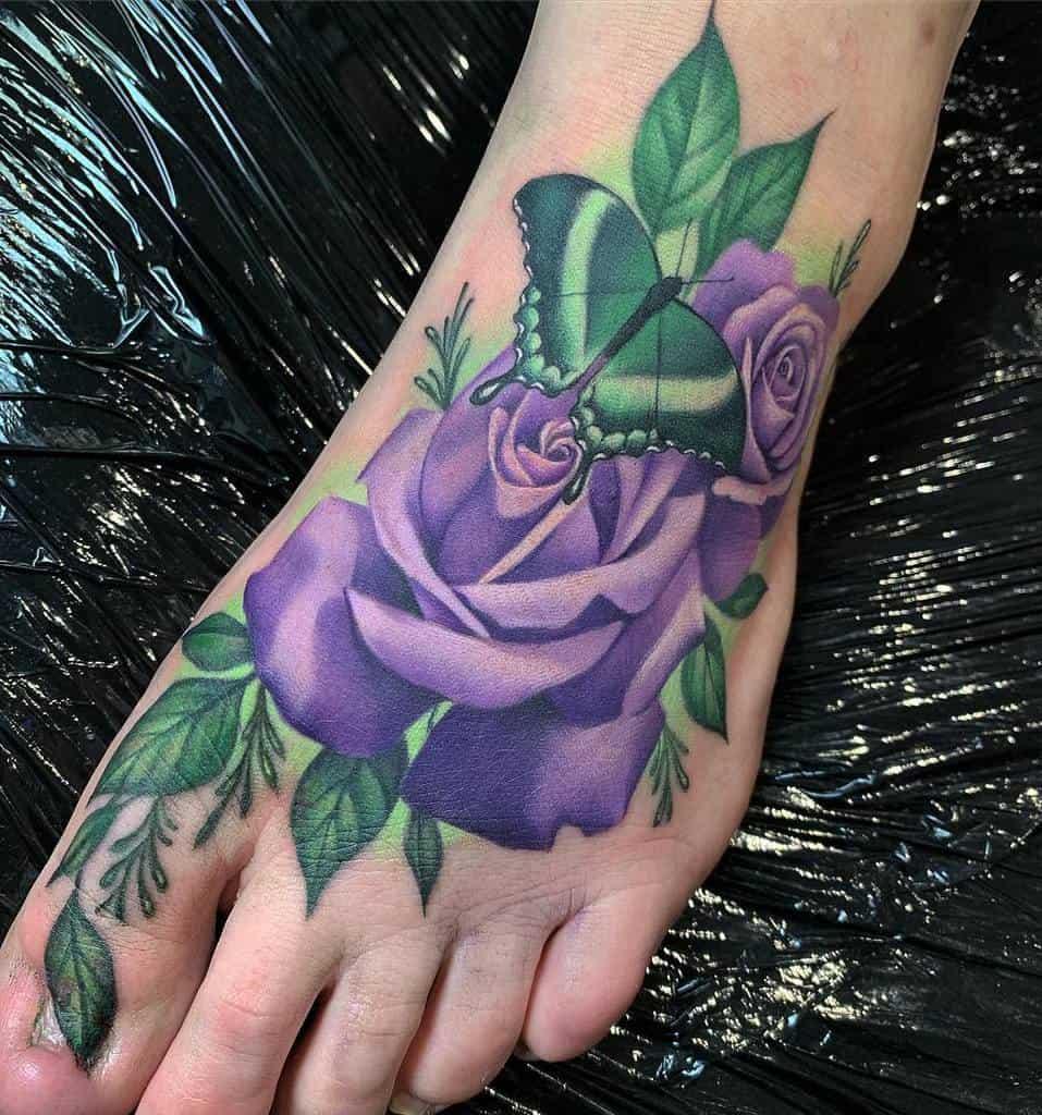 realistic purple rose tattoos bethanyriverstattoos