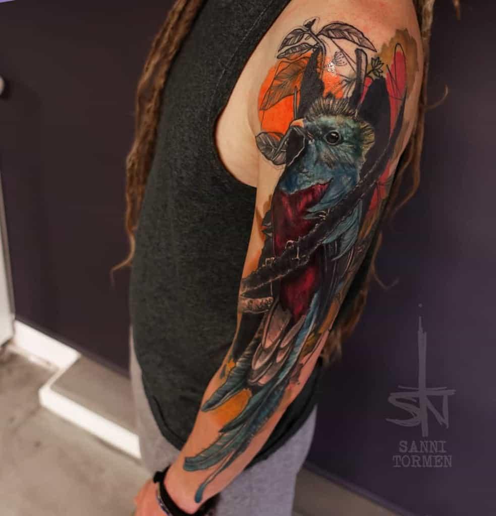 Realistic Quetzal Tattoos Sanni Tormen Tattoo