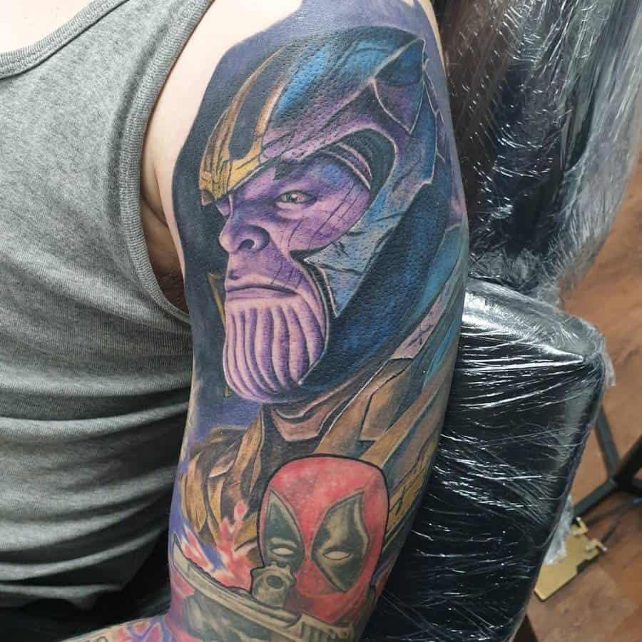 Realistic Realism Thanos Tattoo Angelinktattoos1