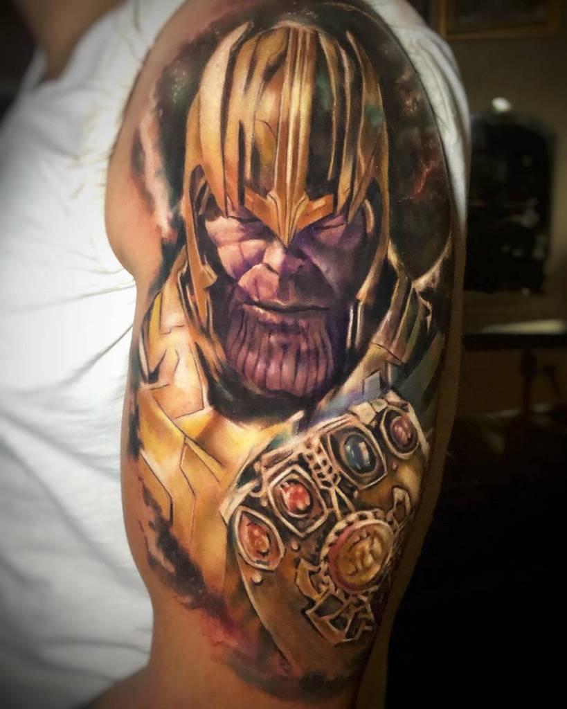 Realistic Realism Thanos Tattoo Charlyinkintention