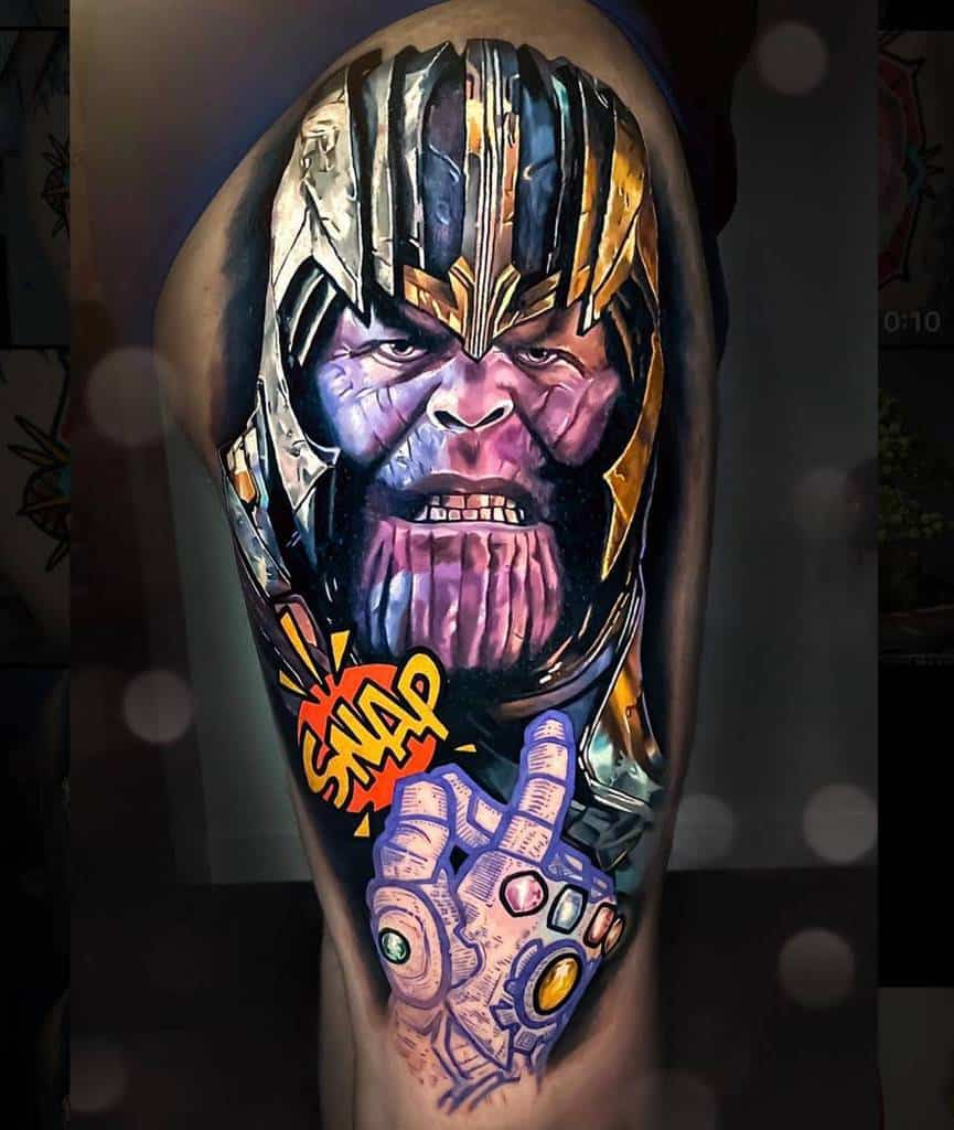 Realistic Realism Thanos Tattoo Chrisrigonitattooer