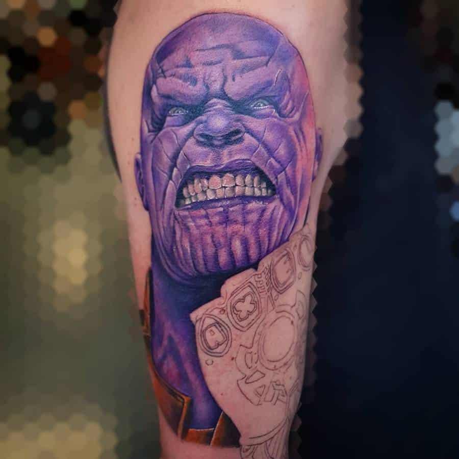 Realistic Realism Thanos Tattoo Dwtattoo