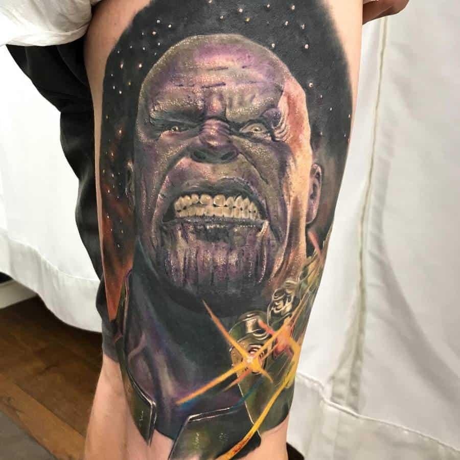 Realistic Realism Thanos Tattoo Richardesterbauer