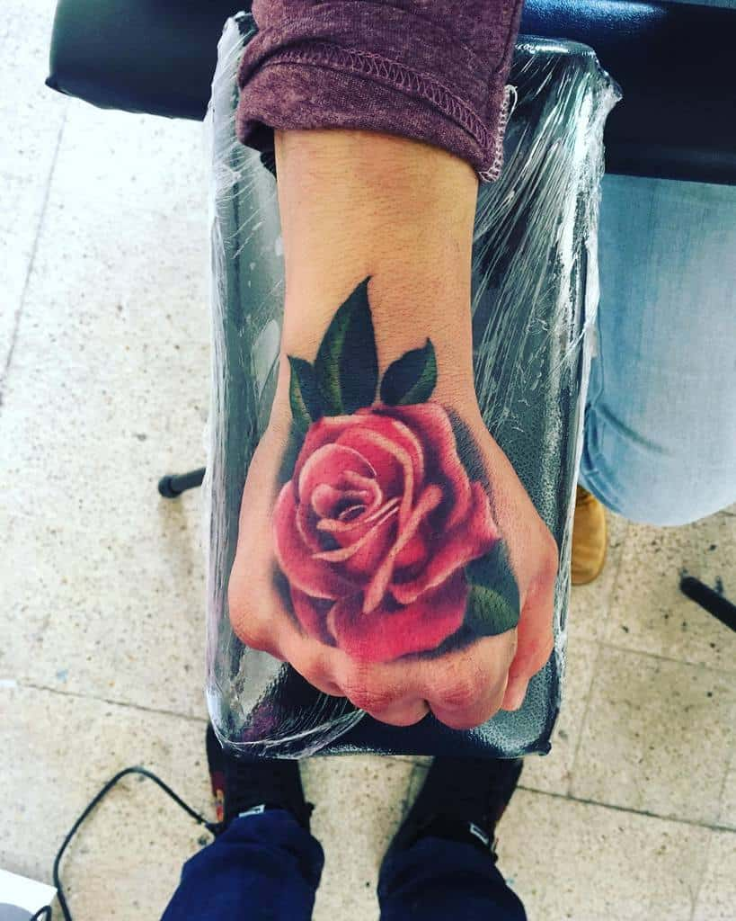 realistic rose hand tattoos coco_darkside
