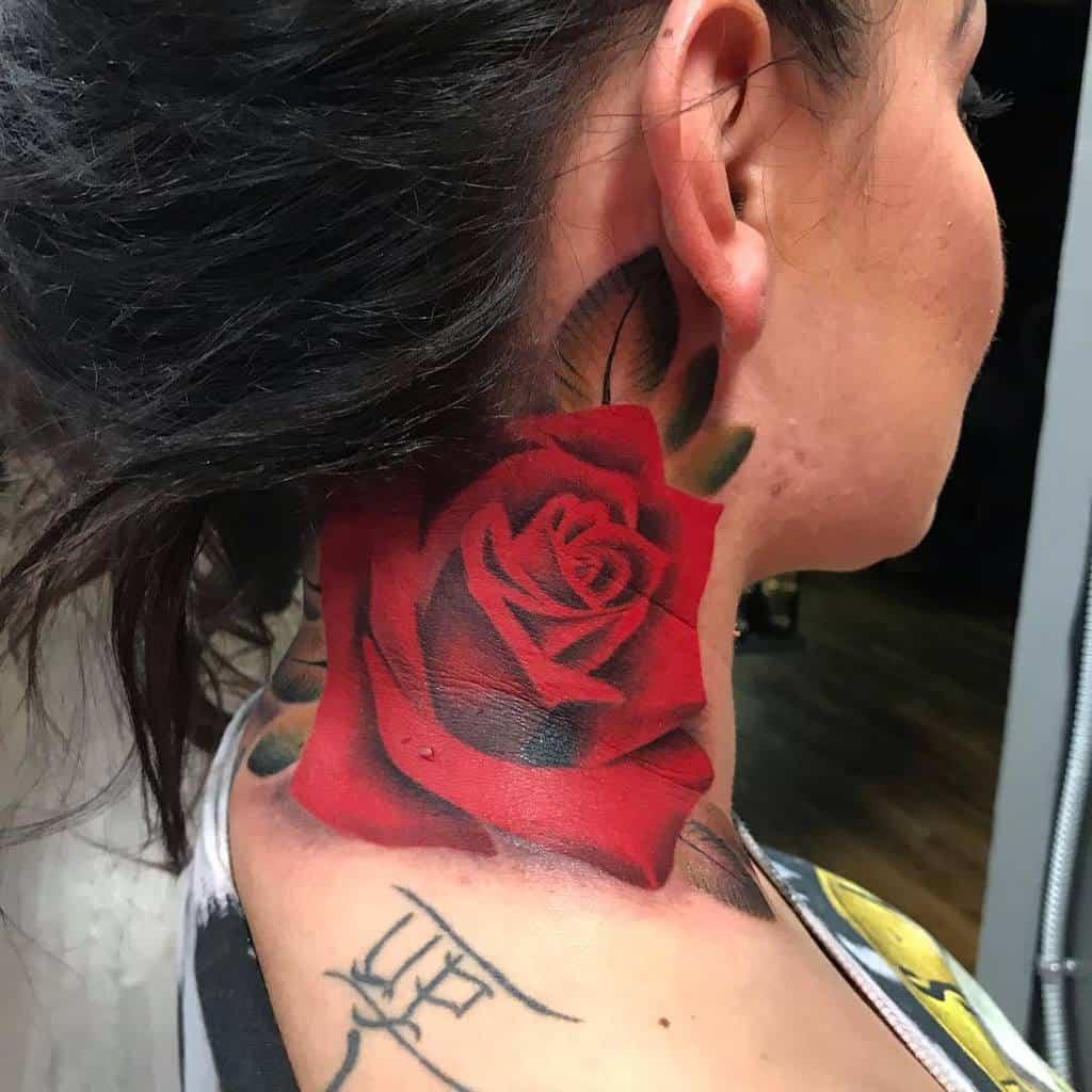 realistic rose neck tattoos jb_tattoos