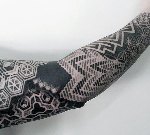 Realistic Sacred Geometry Mandala Tattoo For Men