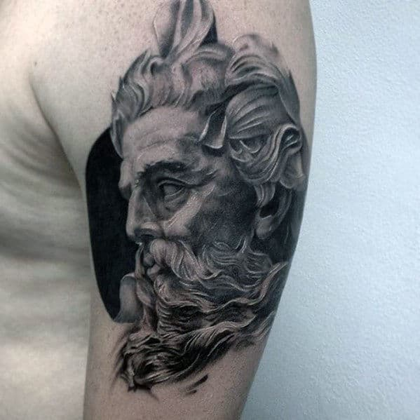 Realistic Shaded Portrait Awesome Arm Tattoos For Men