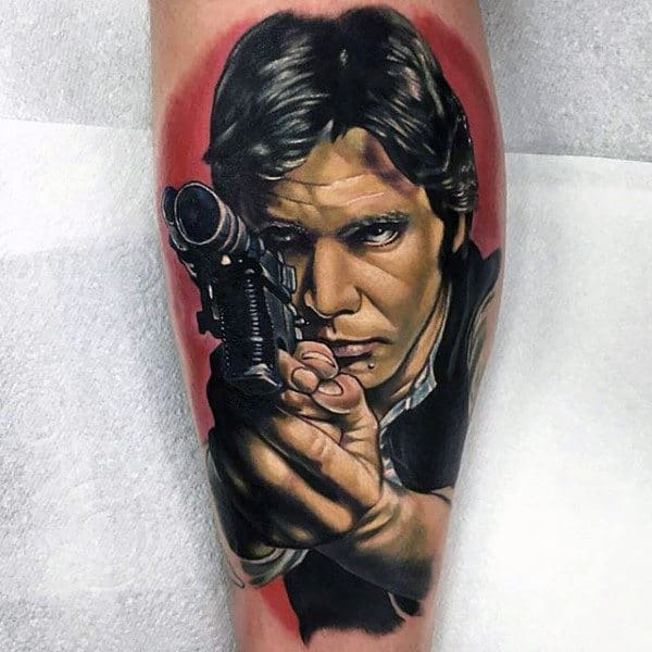 Realistic Shoot You Tattoo Star Wars Male Forearms
