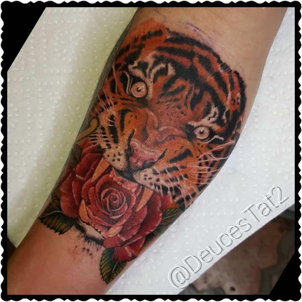 realistic tiger rose tattoos deucestat2