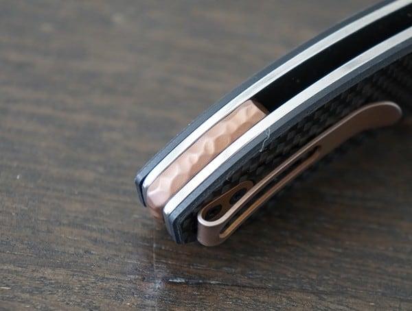 Rear Detial Crkt 4620 Avant Folding Knife Accents
