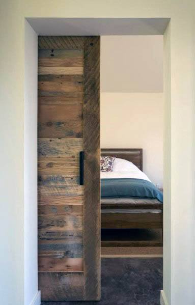 Reclaimed Salvaged Barn Wood Stunning Interior Pocket Door Designs