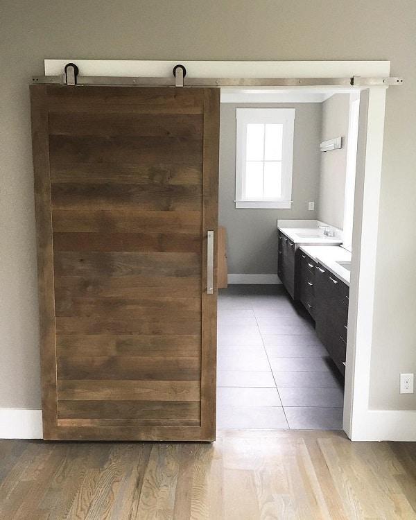 Reclaimed Wood Bathroom Barn Door