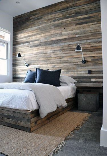 Reclaimed Wood Wall Ideas Bedroom