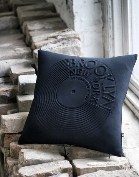 Record Pillow Man Cave Decor Ideas