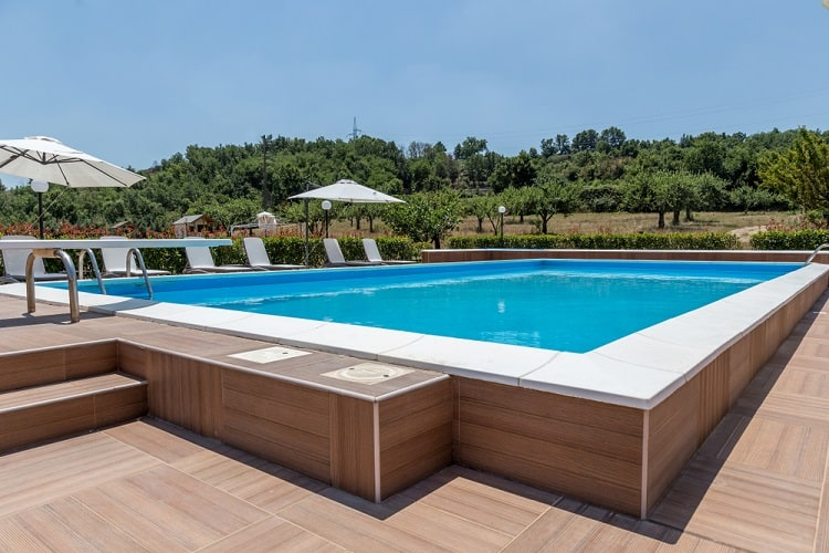 Rectangular Composite Above Ground Pool Deck