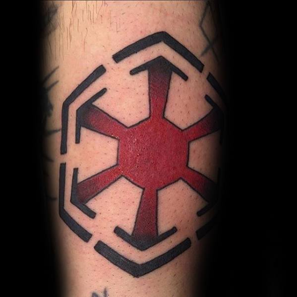 Red And Black Arm Sith Symbol Male Tattoo Designs