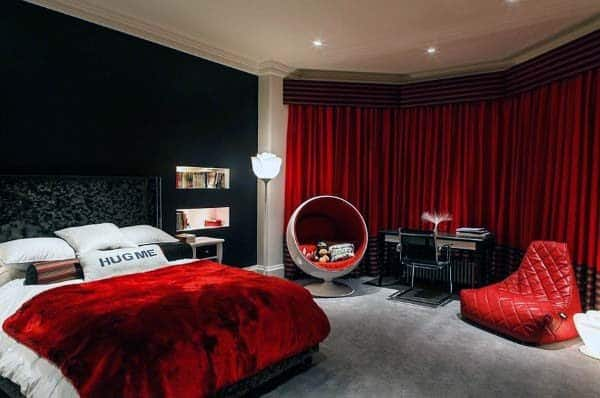 astounding red bedroom walls will | Top 30 Best Red Bedroom Ideas - Bold Designs