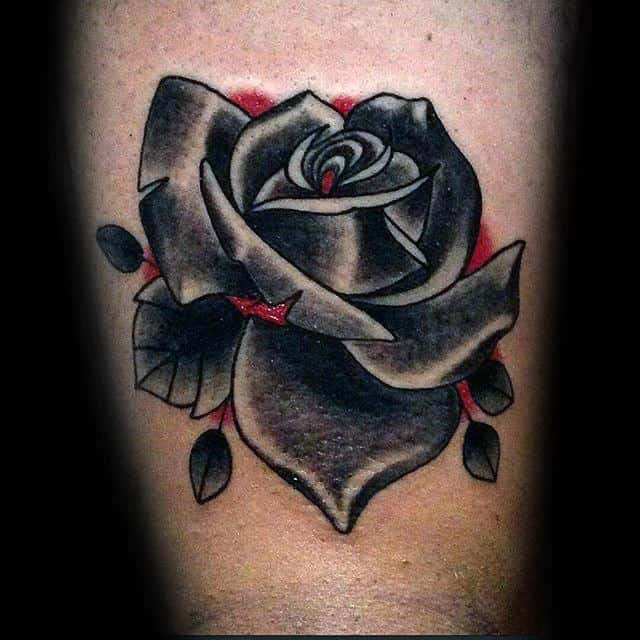 nextluxury simple 7 black and grey rose tattoos