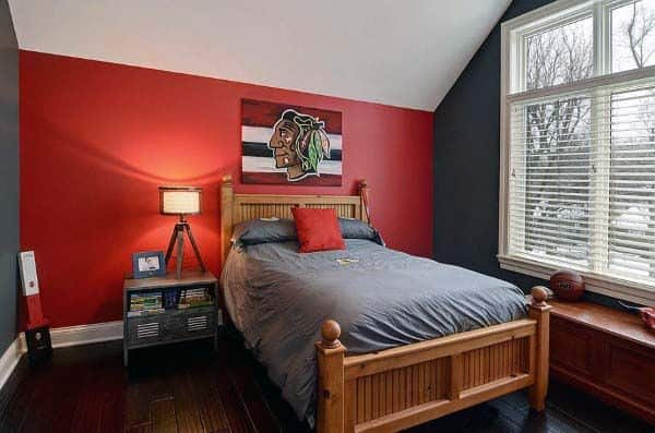 Red Bedroom Wall Painting Ideas