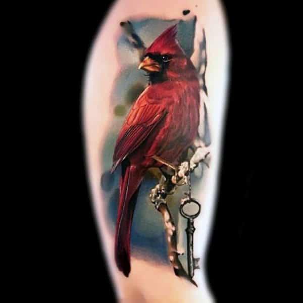 Red Bird Keys Tattoo Men