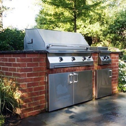 Red Brick Built In Grill Home Designs
