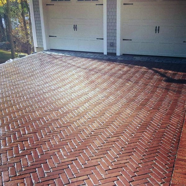 Red Brick Driveway Paving Ideas