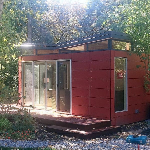 Red Exterior Ideas Backyard Shed