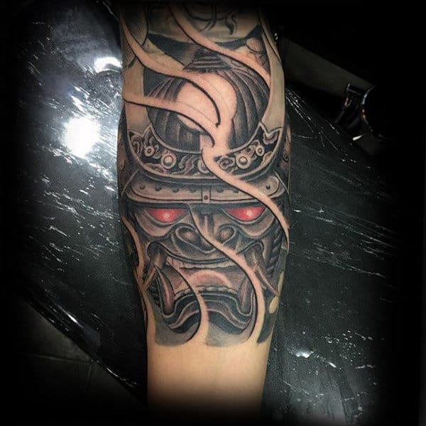 60 Samurai Helmet Tattoo Designs For Men