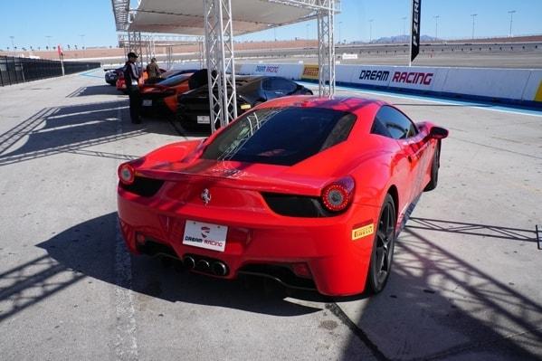 Red Ferrari Rear