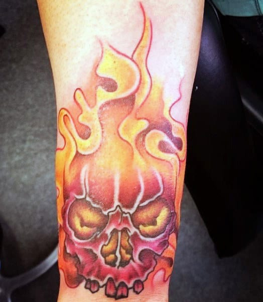 Red Guys Ghost Flame Tattoos
