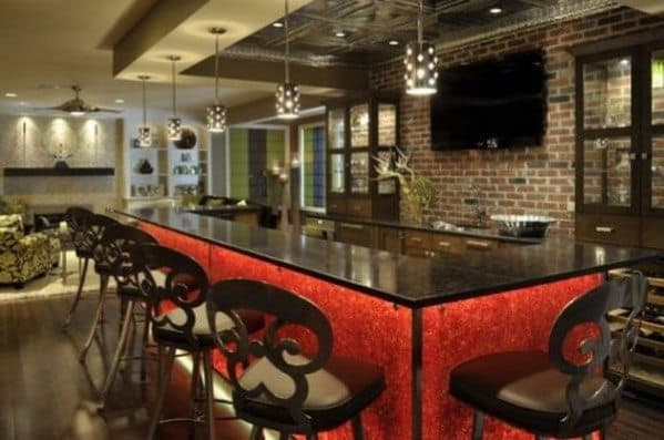 Red Home Bar Colors. Pub Interior Design Ideas