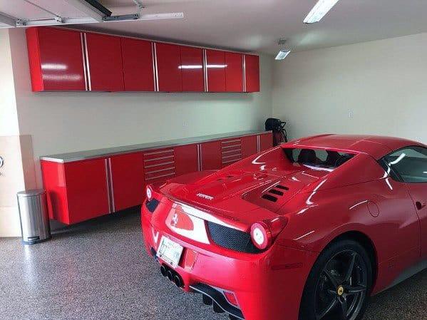 Red Home Ideas Garage Cabinet