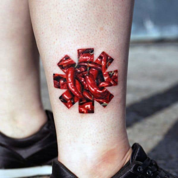 Red Hot Chili Peppers Tattoo Designs For Gentlemen