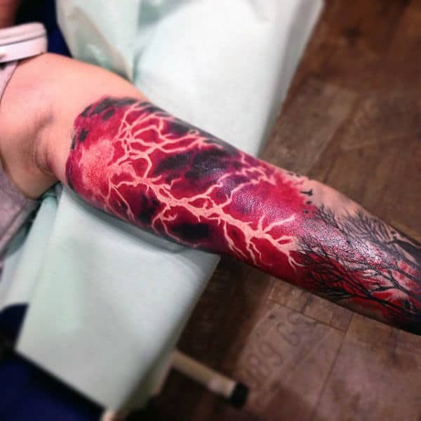 60 lightning tattoo designs for men high voltage ideas for Lightning tattoo meaning