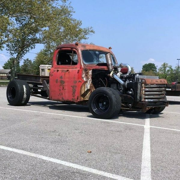 Red Truck Badass Rat Rods