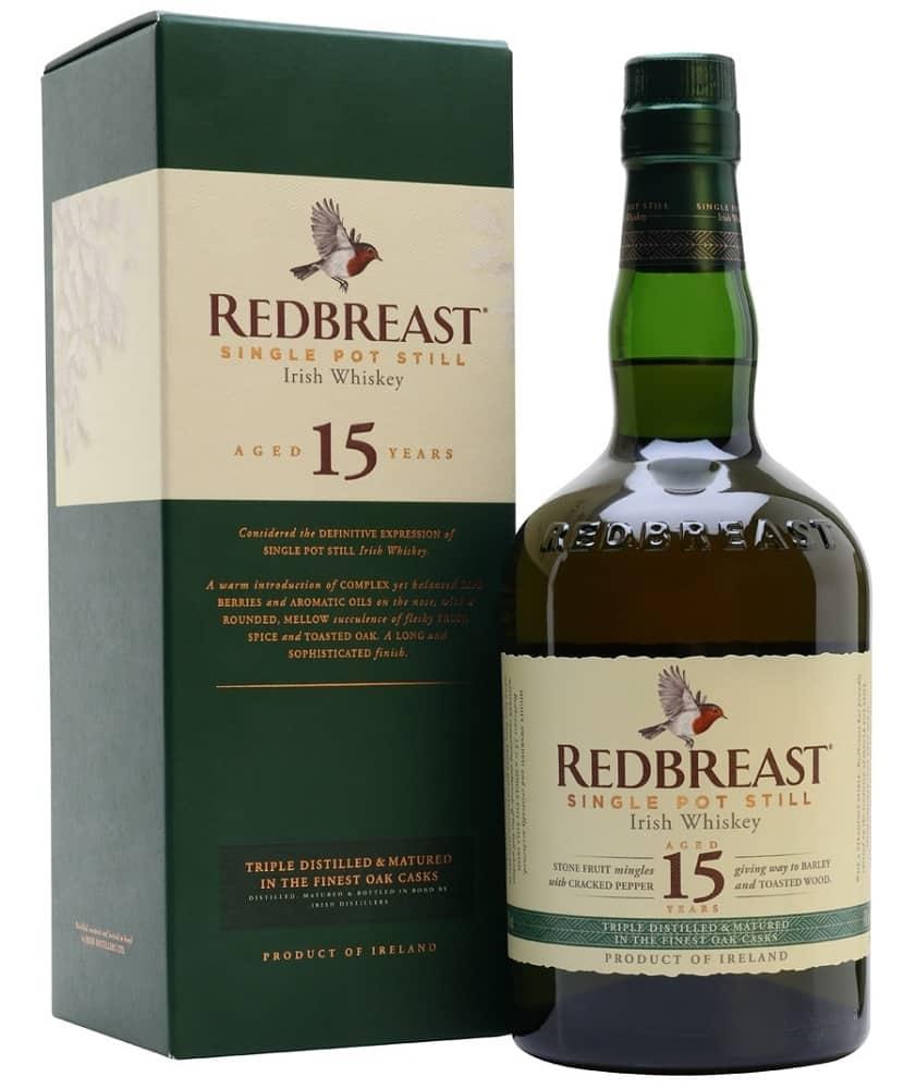 redbreast single pot still irish whiskey bottle