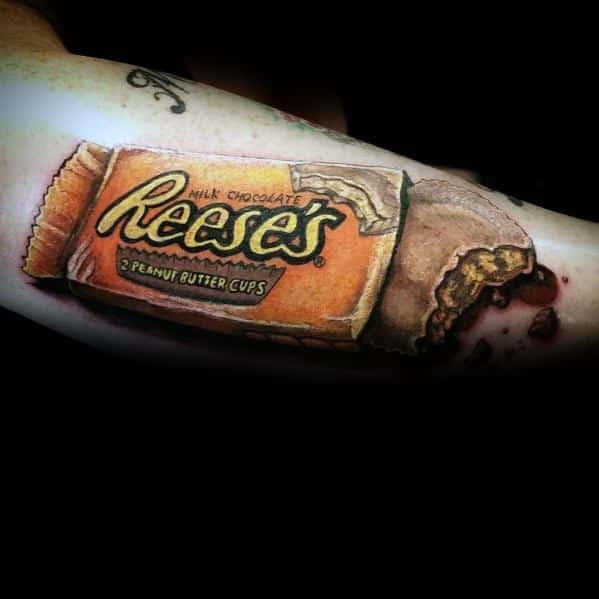 60 candy tattoo ideas for men sweet designs for Is cocoa butter good for tattoos