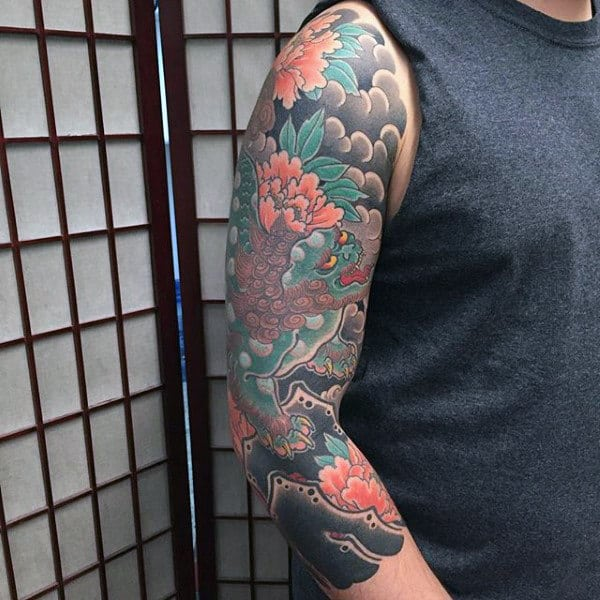 Refined Japanese Sleeve Tattoo For Guys