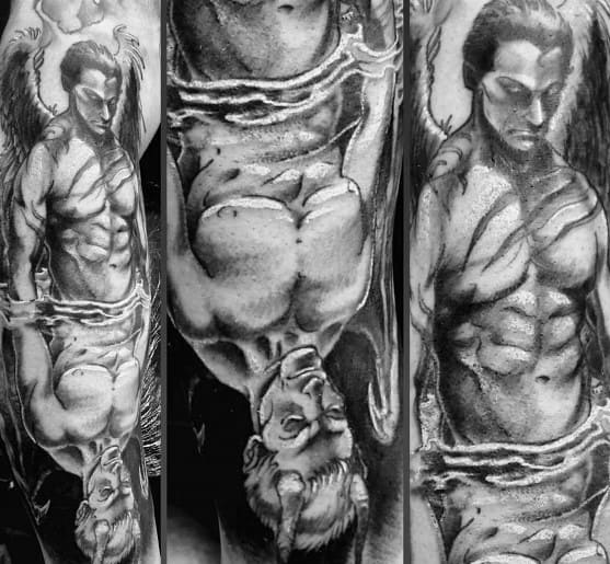Reflection Tattoo Design Ideas For Men