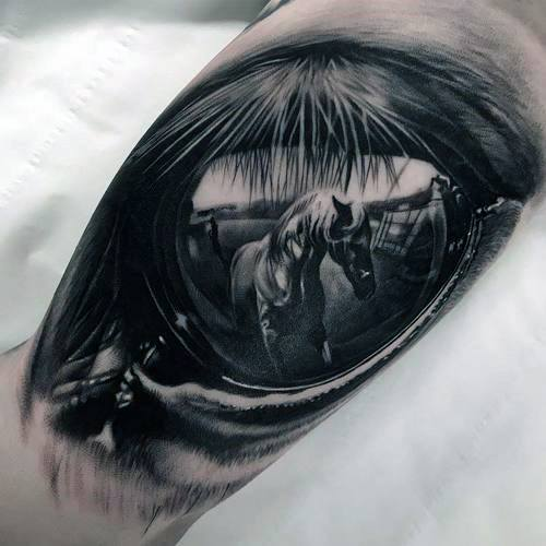 Reflection Tattoo Designs For Men