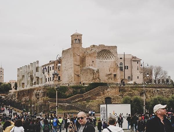 Regio Iv Templum Pacis Rome Italy Colosseum Surronding Area