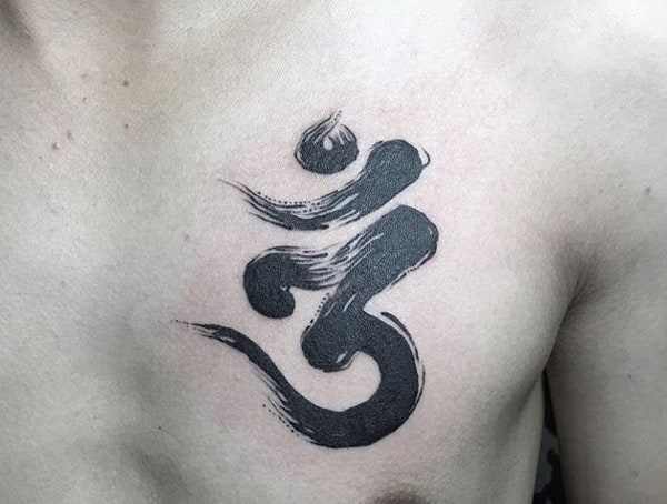 Religious Buddhism Symbolic Tattoos For Men Om Meaning