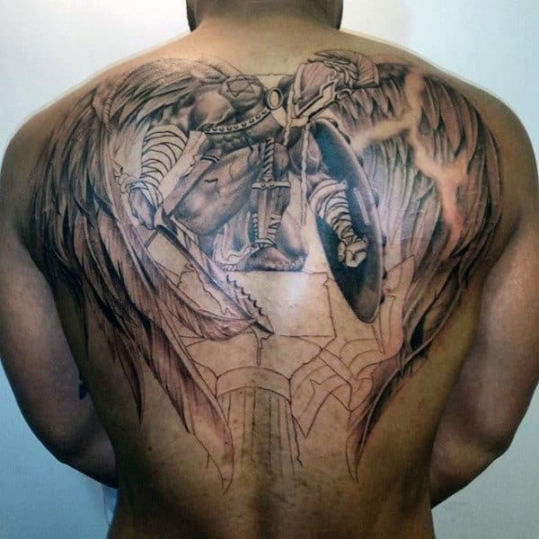 Religious Men's Angel Tattoo Designs